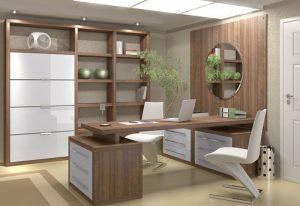 bàn giám đốc gỗ công nghiệp 1